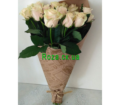 """Bouquet of peach roses 1"" in the online flower shop roza.ck.ua"