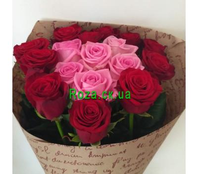 """""""Букет сердце из роз - вид 2"""" в интернет-магазине цветов roza.ck.ua"""