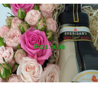 """Flowers with Sheridan's liqueur 1"" in the online flower shop roza.ck.ua"
