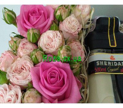 """Flowers with Sheridan's liqueur 3"" in the online flower shop roza.ck.ua"