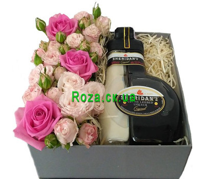 """Flowers with Sheridan's liqueur"" in the online flower shop roza.ck.ua"