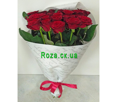 """Red roses in packing 1"" in the online flower shop roza.ck.ua"