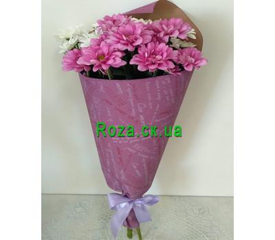 """""""Маленький букет из ромашек хризантем - вид 1"""" в интернет-магазине цветов roza.ck.ua"""