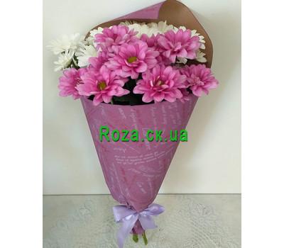 """""""Маленький букет из ромашек хризантем - вид 3"""" в интернет-магазине цветов roza.ck.ua"""