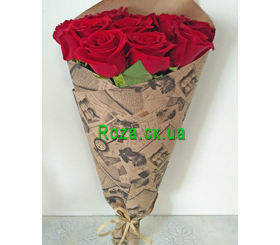"""Wonderful bouquet of 11 red roses 1"" in the online flower shop roza.ck.ua"