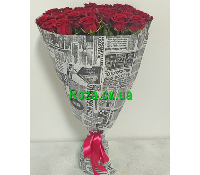 """Bouquet of 31 red roses 1"" in the online flower shop roza.ck.ua"