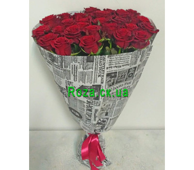 """Bouquet of 31 red roses 2"" in the online flower shop roza.ck.ua"