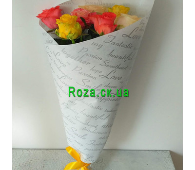 """Bouquet of 7 roses 6"" in the online flower shop roza.ck.ua"