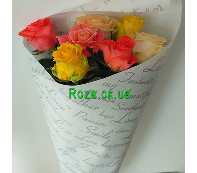 """Bouquet of 7 roses 7"" in the online flower shop roza.ck.ua"