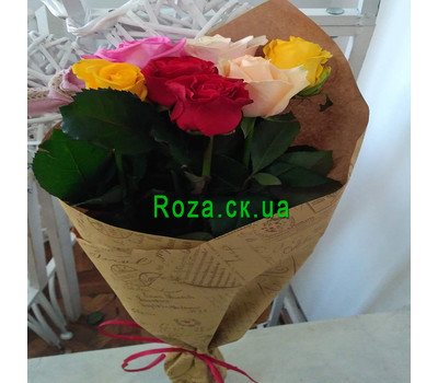 """Bouquet of 7 roses 8"" in the online flower shop roza.ck.ua"
