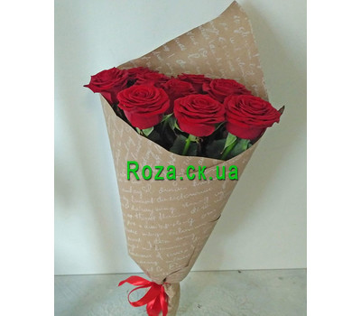 """Bouquet of red roses in a paper 4"" in the online flower shop roza.ck.ua"