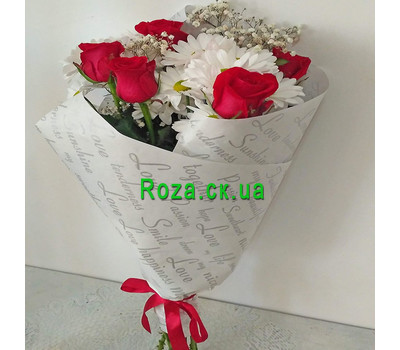 """""""Small bouquet 11"""" in the online flower shop roza.ck.ua"""