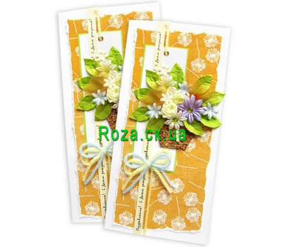"""Birthday card with a basket of flowers"" in the online flower shop roza.ck.ua"