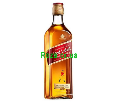 """""""Johnnie Walker Red Label whiskey certificate"""" in the online flower shop roza.ck.ua"""