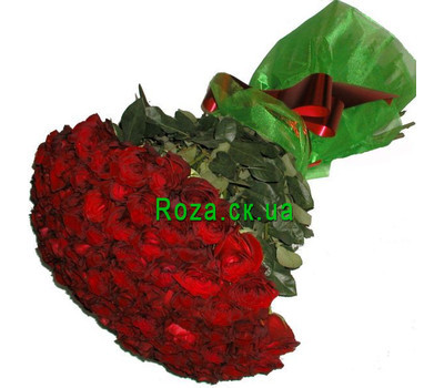 """55 meters of imported roses"" in the online flower shop roza.ck.ua"