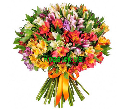 """Large bouquet of alstroemerias"" in the online flower shop roza.ck.ua"