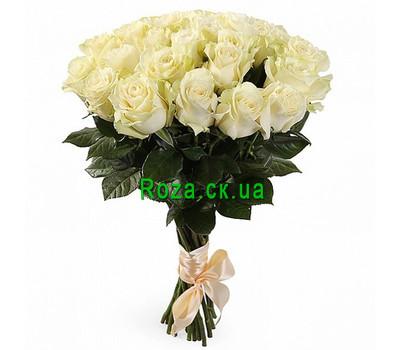 """""""Букет белых импортных роз"""" в интернет-магазине цветов roza.ck.ua"""