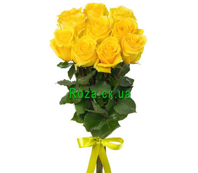 """Bouquet of 11 yellow roses"" in the online flower shop roza.ck.ua"