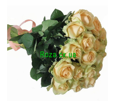 """Bouquet of cream roses"" in the online flower shop roza.ck.ua"