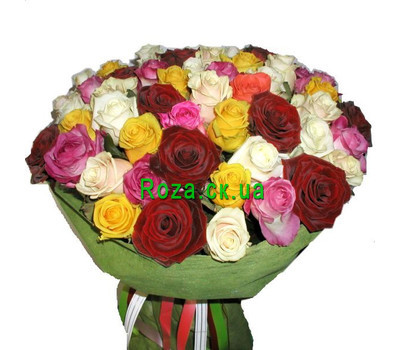 """Bouquet of different color roses"" in the online flower shop roza.ck.ua"