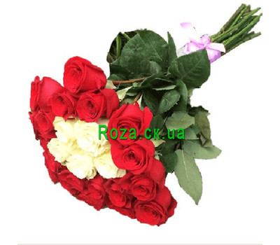 """""""Wonderful bouquet of imported roses"""" in the online flower shop roza.ck.ua"""
