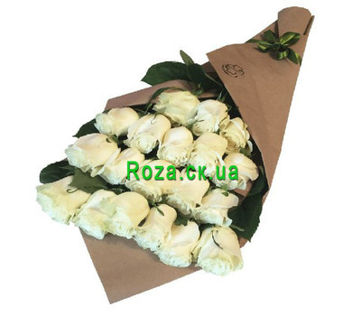 """Cascade bouquet of imported roses"" in the online flower shop roza.ck.ua"
