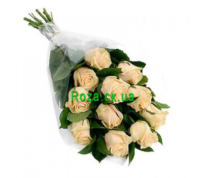 """Cascade bouquet of 11 cream roses"" in the online flower shop roza.ck.ua"