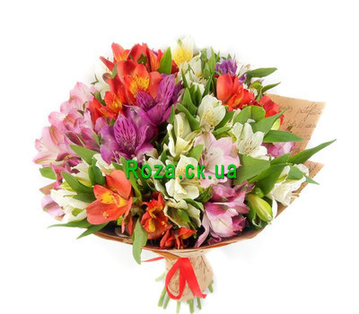 """Beautiful bouquet of alstroemerias"" in the online flower shop roza.ck.ua"