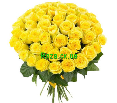 """Beautiful bouquet of yellow roses"" in the online flower shop roza.ck.ua"