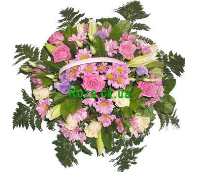"""Basket of flowers"" in the online flower shop roza.ck.ua"