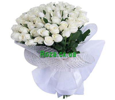"""""""Букет белых роз"""" в интернет-магазине цветов roza.ck.ua"""